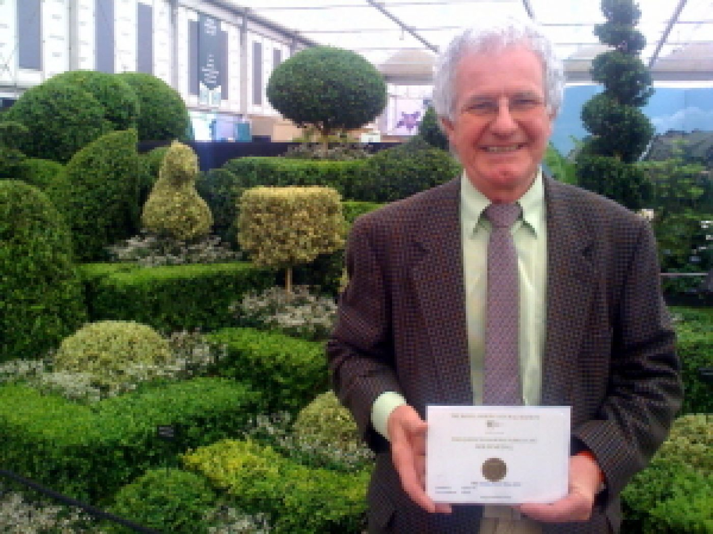 James Crebbin-Bailey with his Chelsea Gold Medal certificate