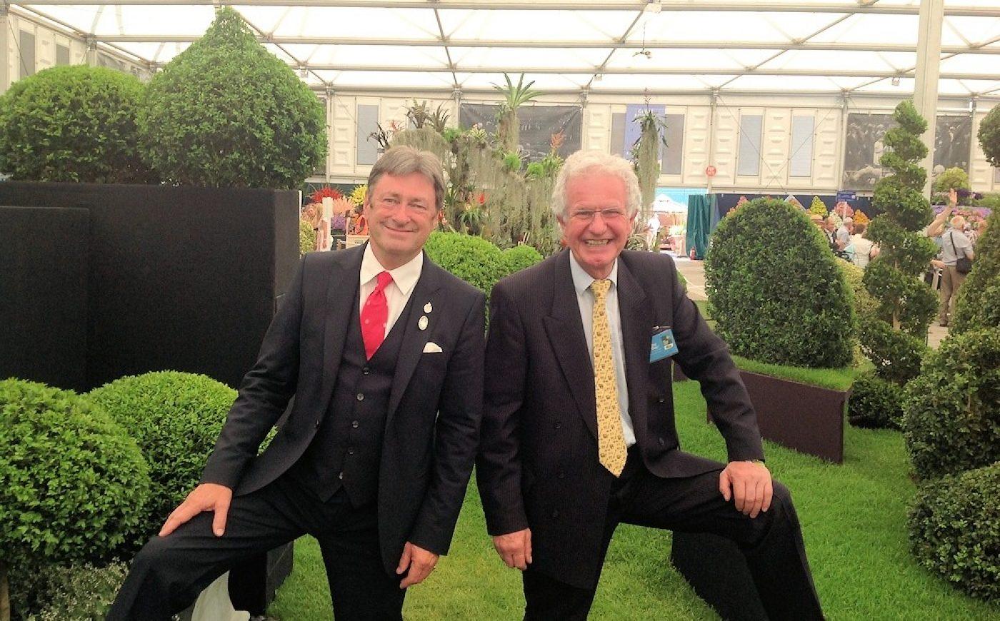 Alan Titchmarsh & James Crebbin -Bailey at Chelsea