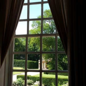 20150703 Bramham Park view of the garden from inside the house
