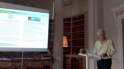 20150704 James Crebbin-Bailey presenting information about the new Contemporary Topiary training modules