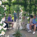20150705 Littlethorpe Manor head gardener explaining how the walled garden represents the 4 seasons of life