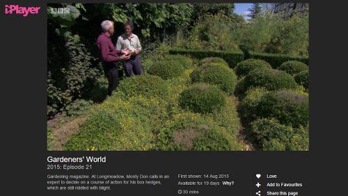 BBCiPlayer Gardeners World 2015 Ep21