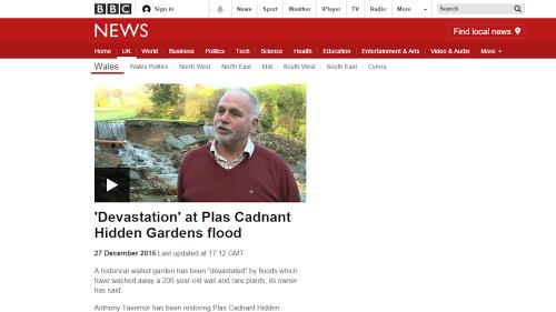 Plas Cadnant Flood