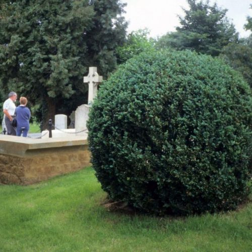Bladon - Winston Churchill is buried in the Churchill family plot at St Martin Church Bladon Oxfordshire England - 1a