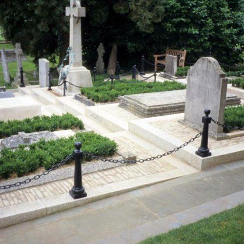 Bladon - Winston Churchill is buried in the Churchill family plot at St Martin Church Bladon Oxfordshire England - 3