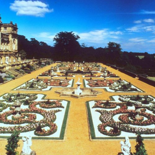 Harewood House terrace Yorkshire