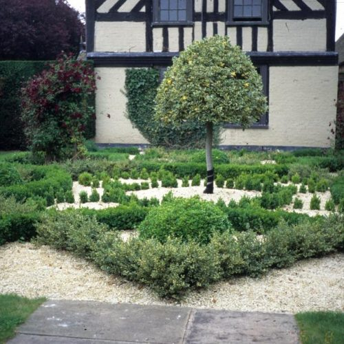 Wollerton Hall Shropshire England This garden is on a 550 year old site - 2
