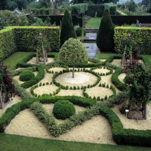 Wollerton Hall Shropshire England This garden is on a 550 year old site - 3