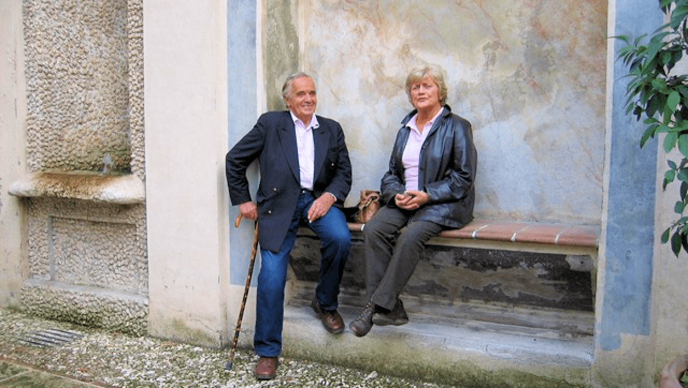 Philip & Barbara Stockitt on an EBTS trip to Italy