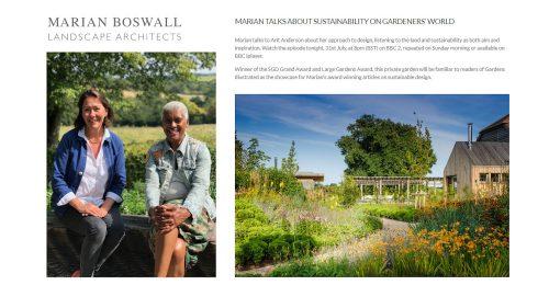 2020-07-31 Marian talks about sustainability on Gardeners World