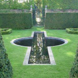 Stanhoe Hall, Norfolk, Rill Garden detail
