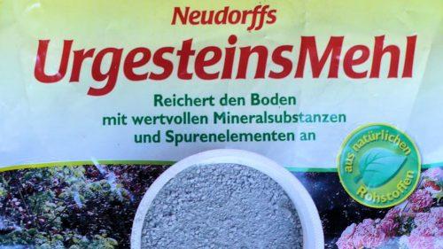 Cup of Neudorff rock flour HL