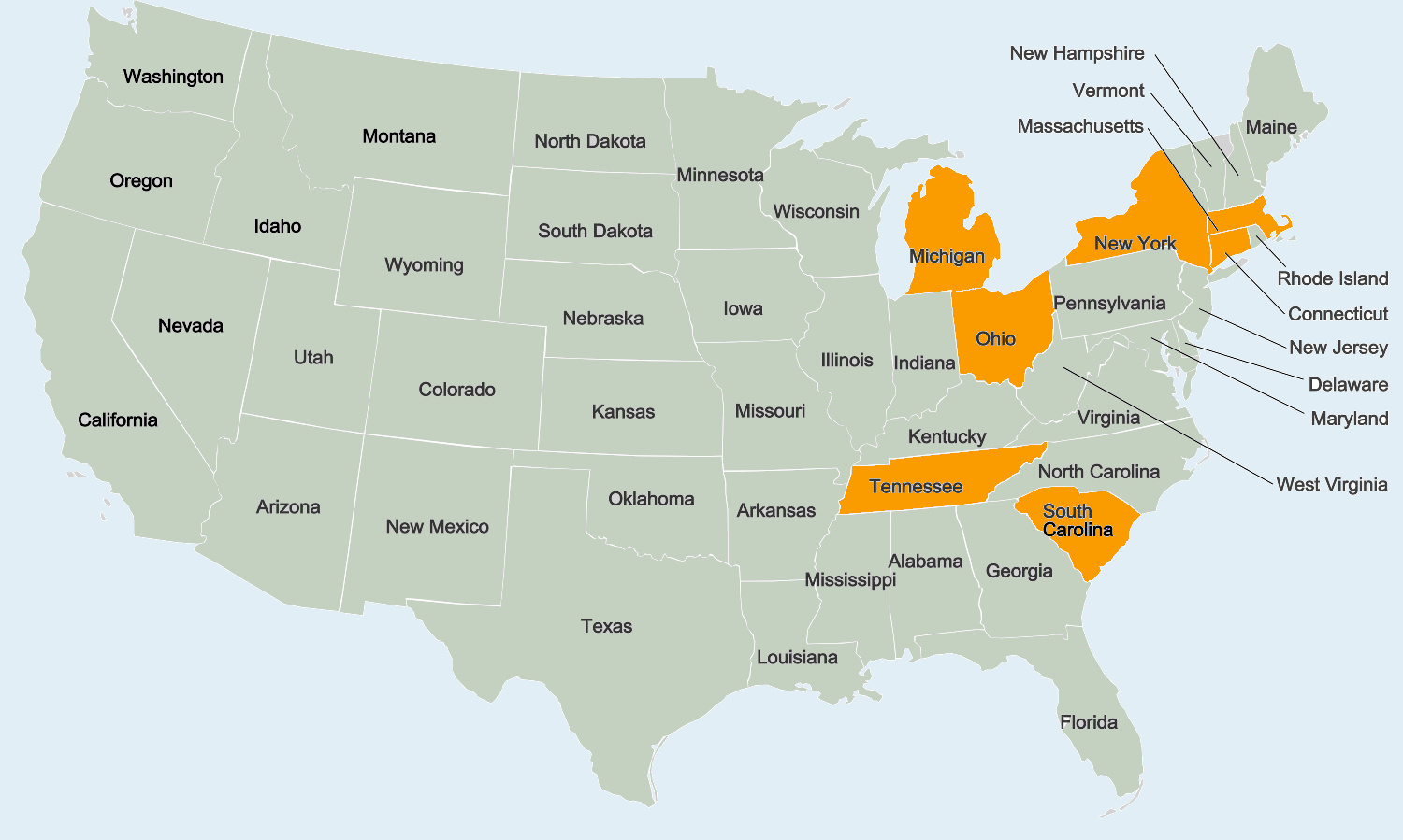 7 States with BTM