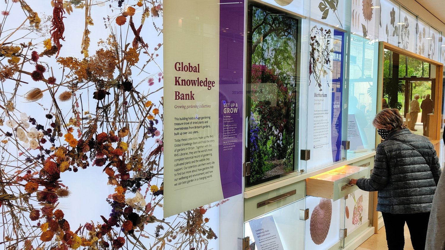 Part of the Global Knowledge Bank exhibition