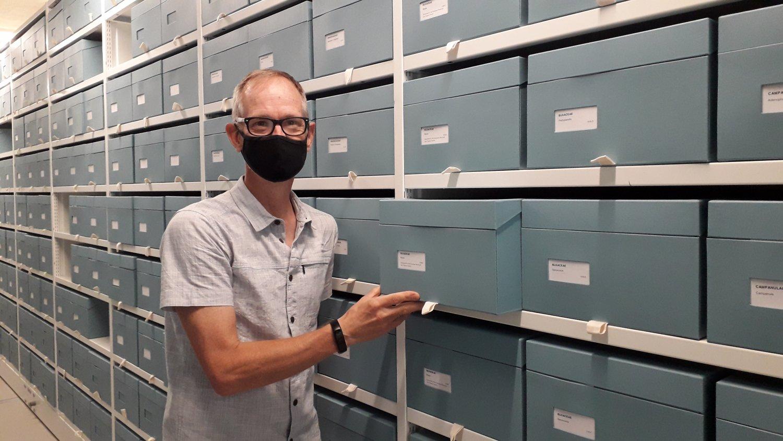 Chris Poole at the RHS Hilltop Herbarium 20210721_143624